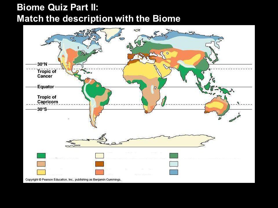 IV.Abiotic Factors and Biomes A. Temperature vs.
