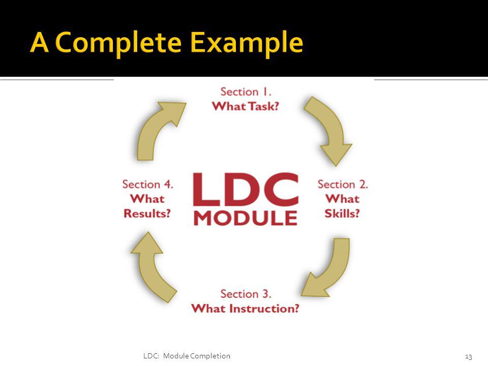LDC: Module Completion13