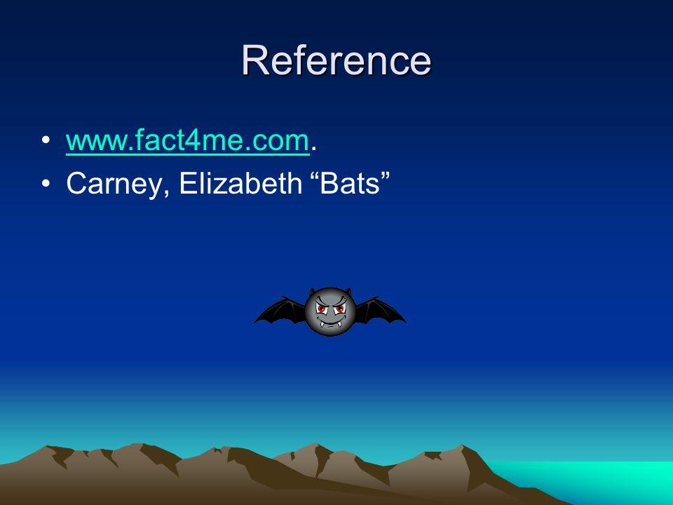 Reference www.fact4me.com.www.fact4me.com Carney, Elizabeth Bats