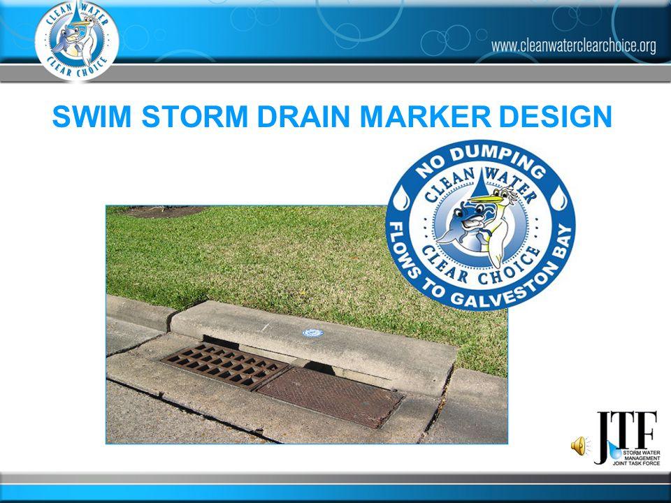 SWIM STORM DRAIN MARKER DESIGN