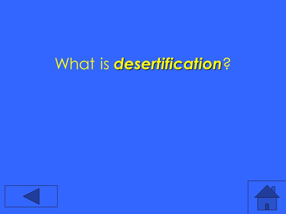 desertification What is desertification
