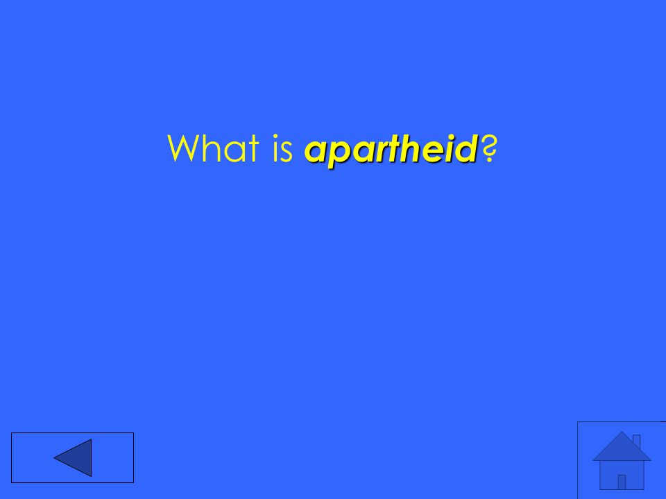 apartheid What is apartheid