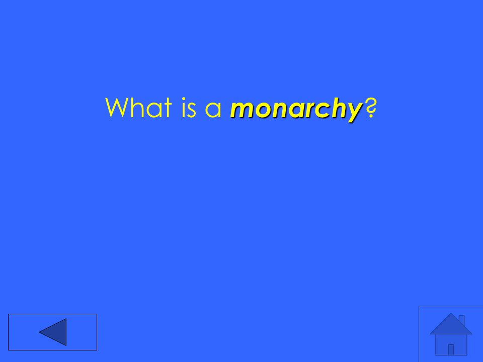monarchy What is a monarchy