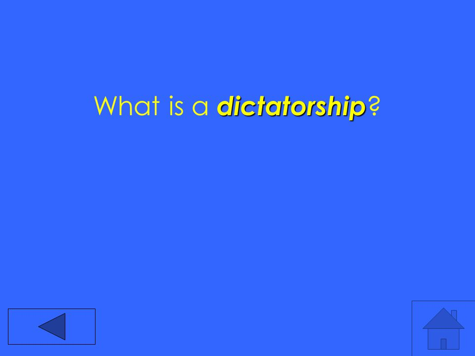 dictatorship What is a dictatorship