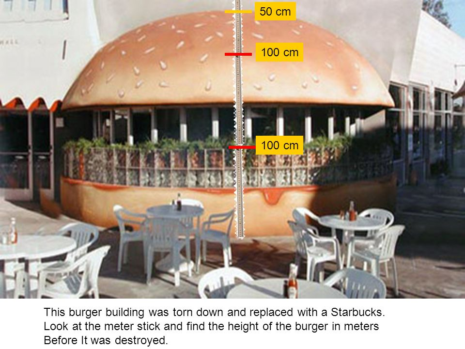 This burger building was torn down and replaced with a Starbucks.