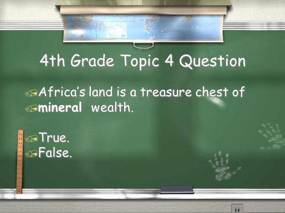 4th Grade Topic 3 Answer / Urbanization. Return