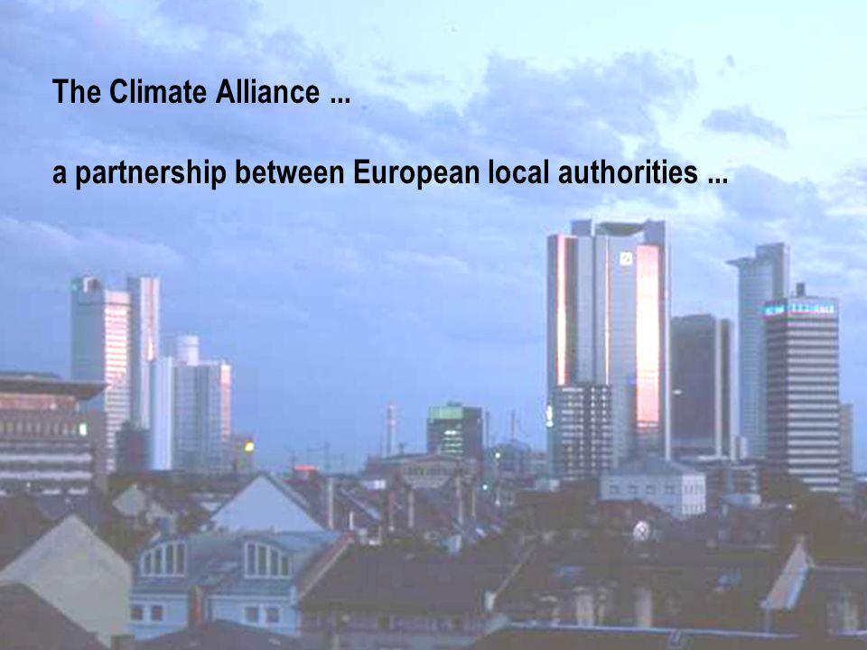 CLIMATE ALLIANCE KLIMA-BÜNDNIS ALIANZA DEL CLIMA e.V. The Climate Alliance... a partnership between European local authorities...