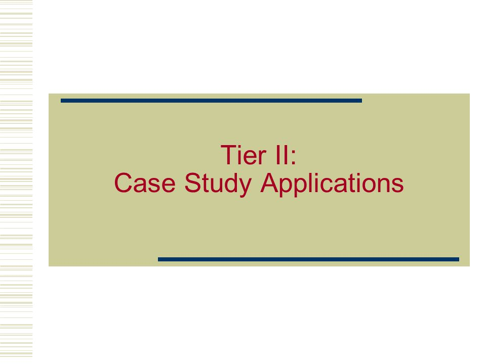 4 Tier II: Statement of Intent The purpose of this module is to demonstrate the application of the minimum manufacturing concepts using the Thunder Bay and Louisiana- Pacific case studies, and introduces the concepts of BAT and strategic planning.
