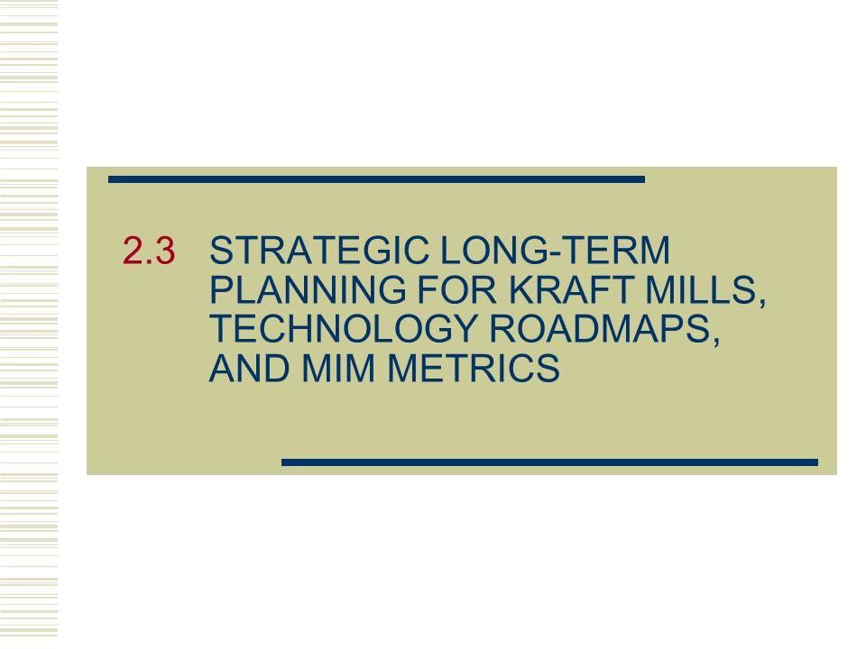 2.3 STRATEGIC LONG-TERM PLANNING FOR KRAFT MILLS, TECHNOLOGY ROADMAPS, AND MIM METRICS