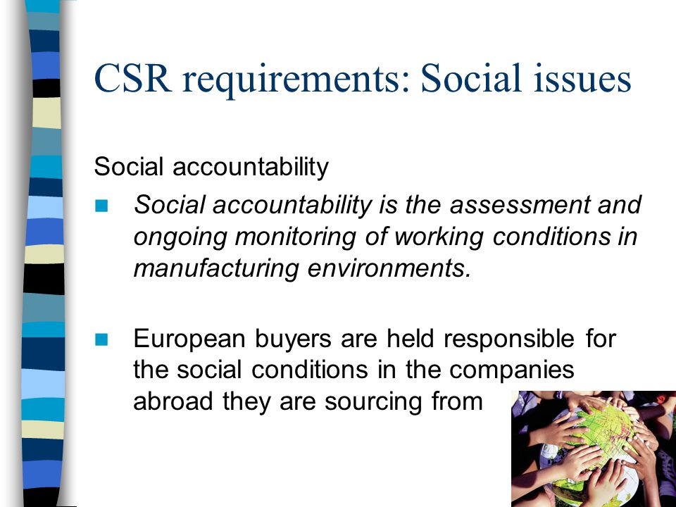 CSR Corporate social responsibility CSR Trends and developments
