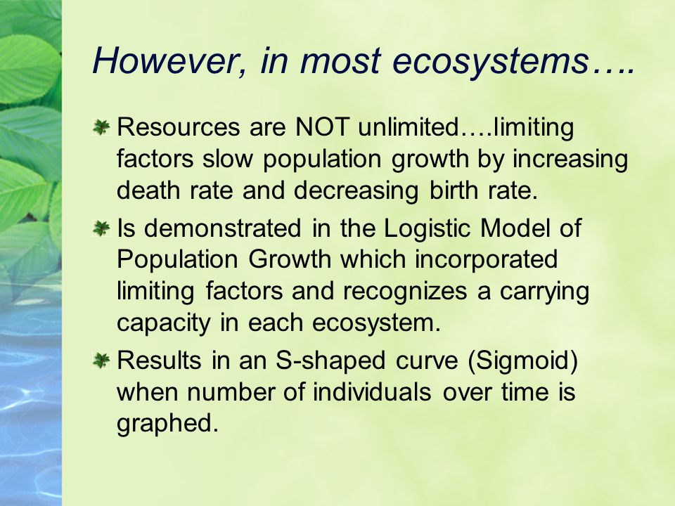 Biotic Factors in greater detail..