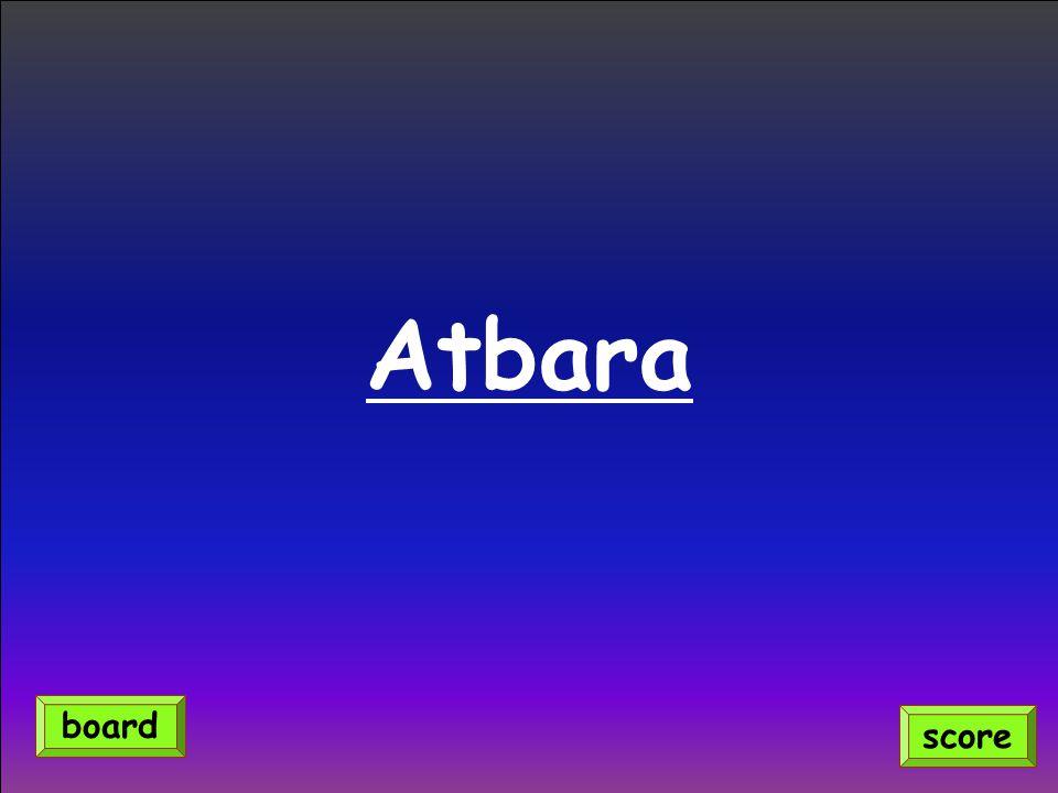 Atbara score board