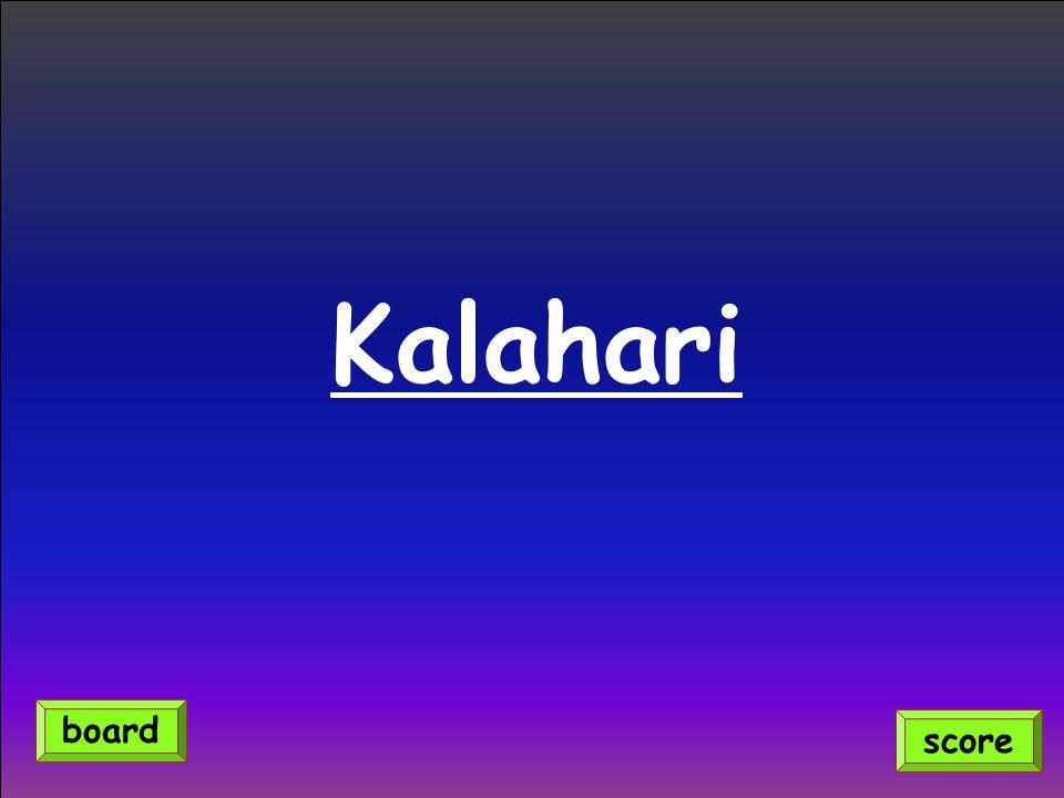 Kalahari score board