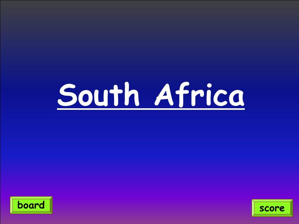 South Africa score board