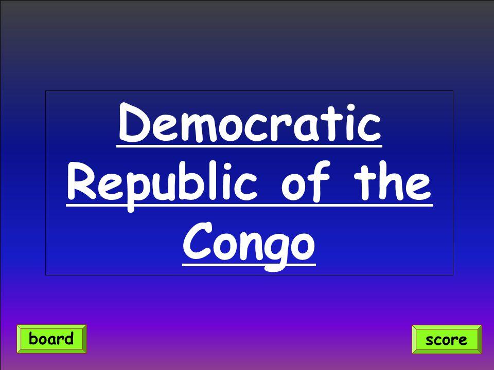 score board Democratic Republic of the Congo