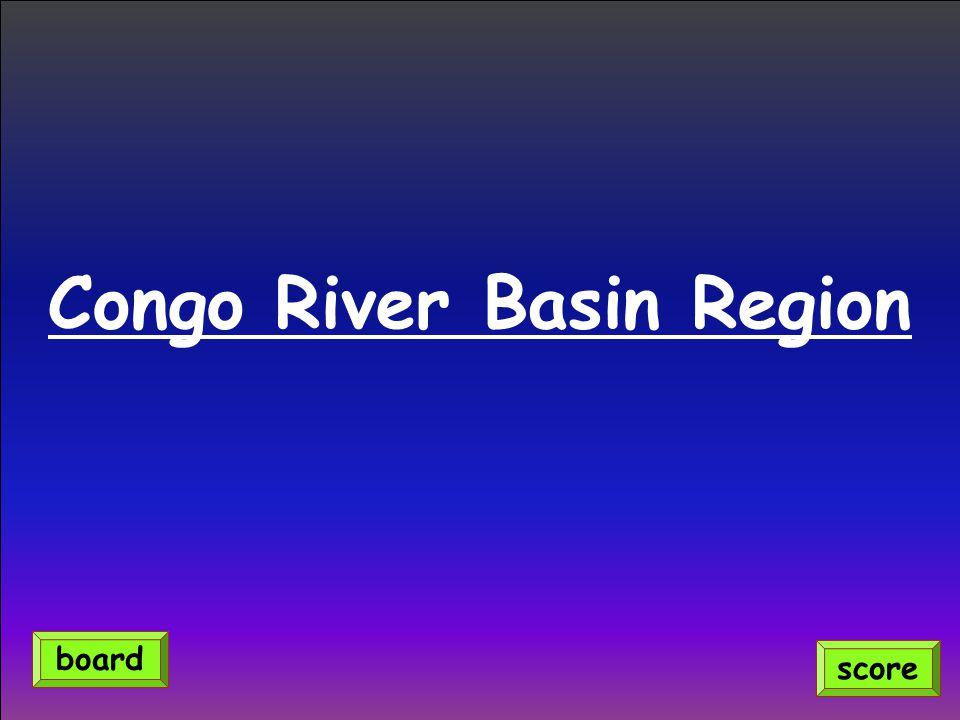Congo River Basin Region score board