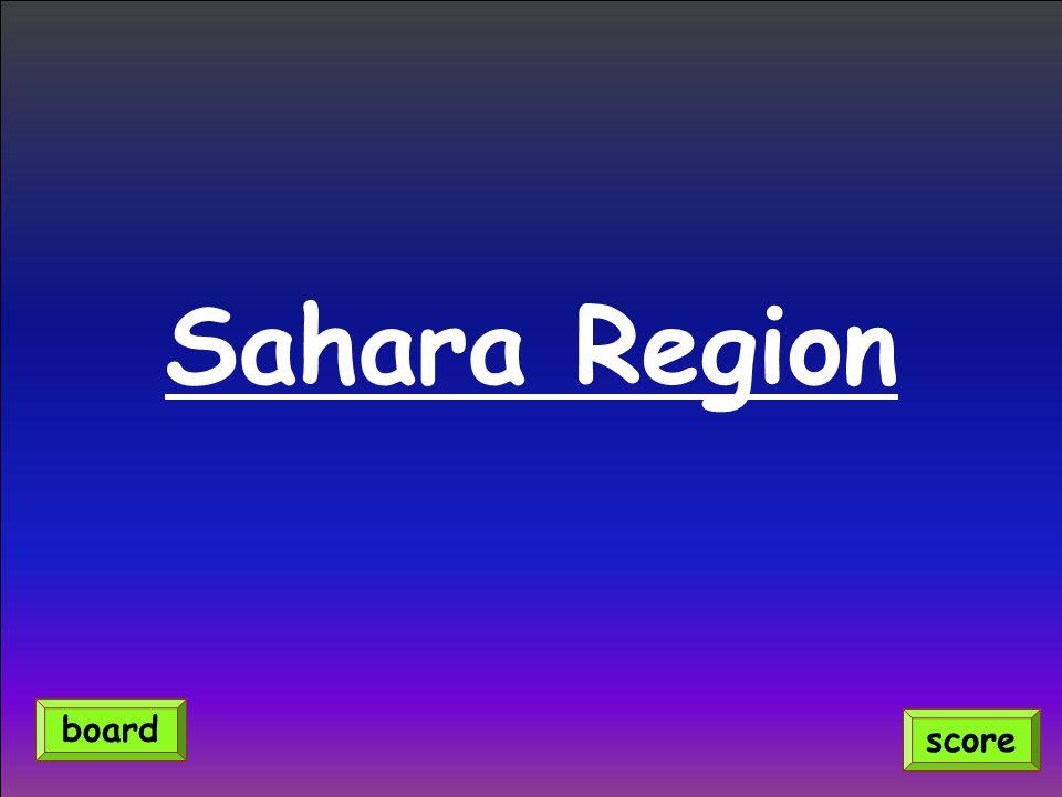 Sahara Region score board
