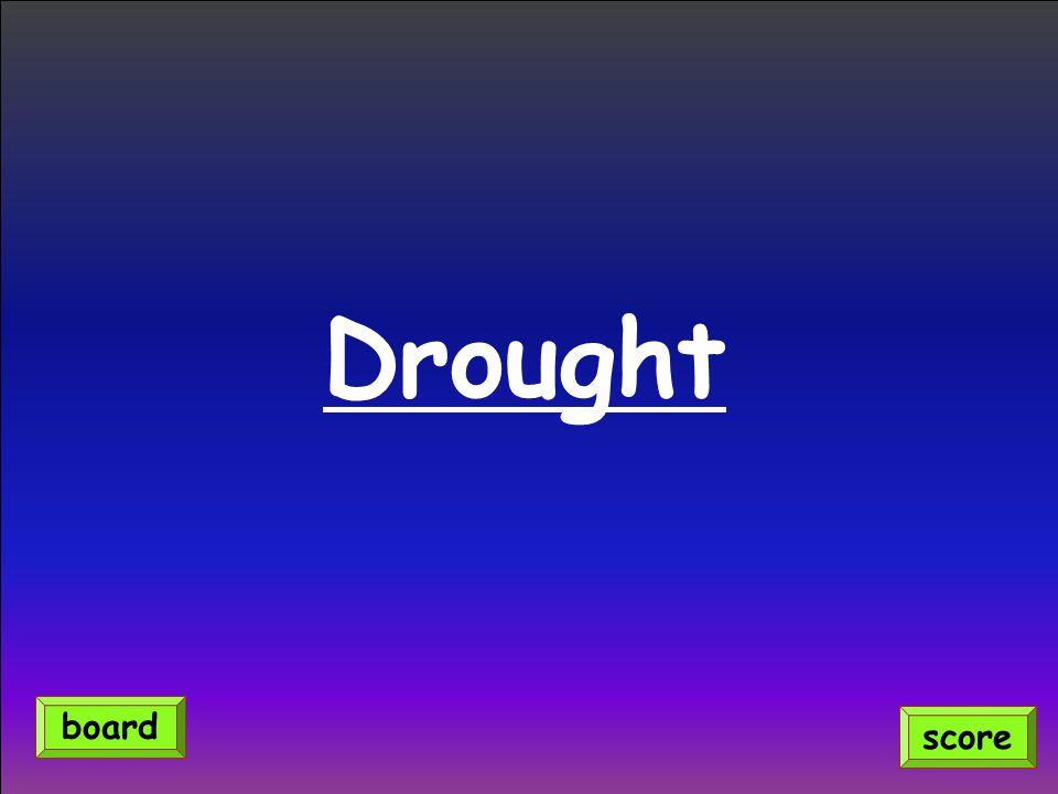 Drought score board