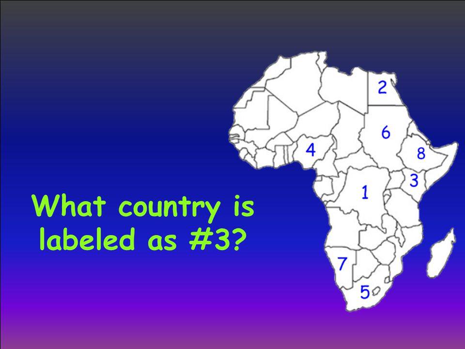 What country is labeled as #3?
