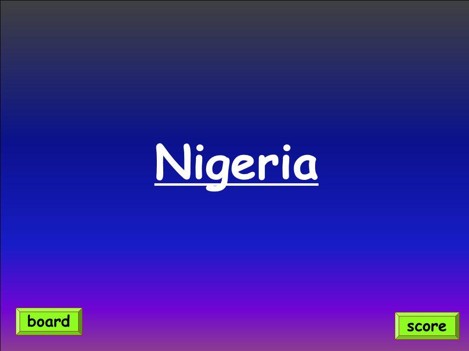 Nigeria score board