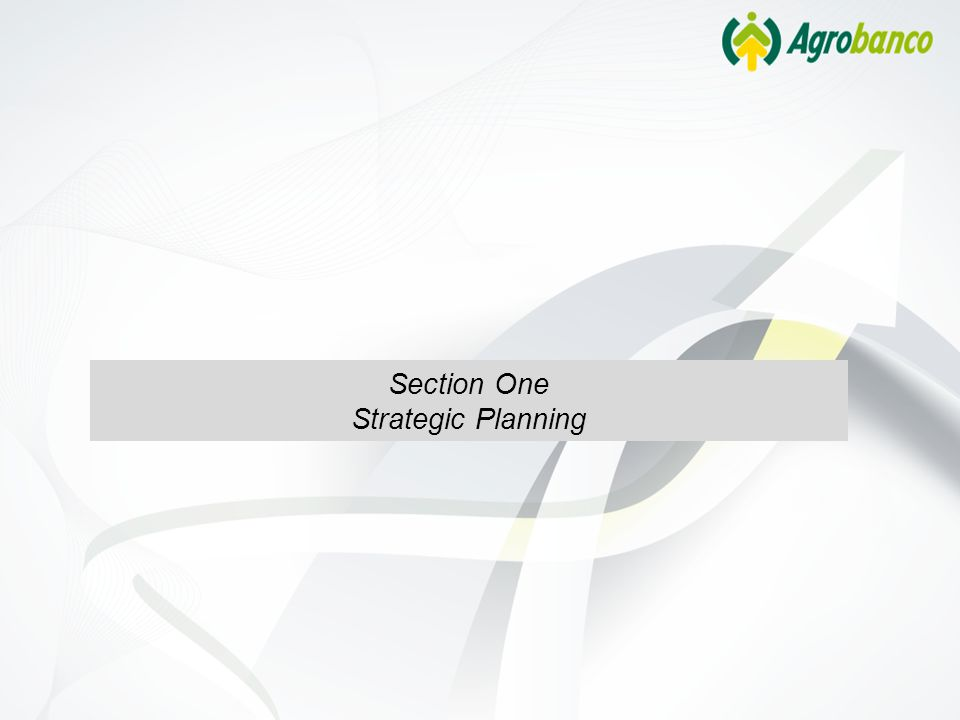 Section One Strategic Planning