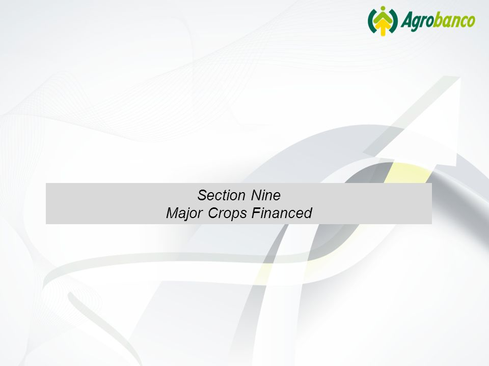 Section Nine Major Crops Financed