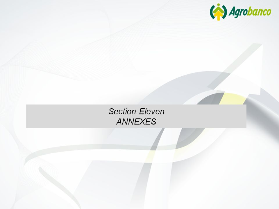 Section Eleven ANNEXES