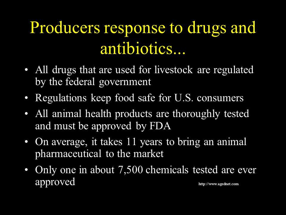 Producers response to drugs and antibiotics...