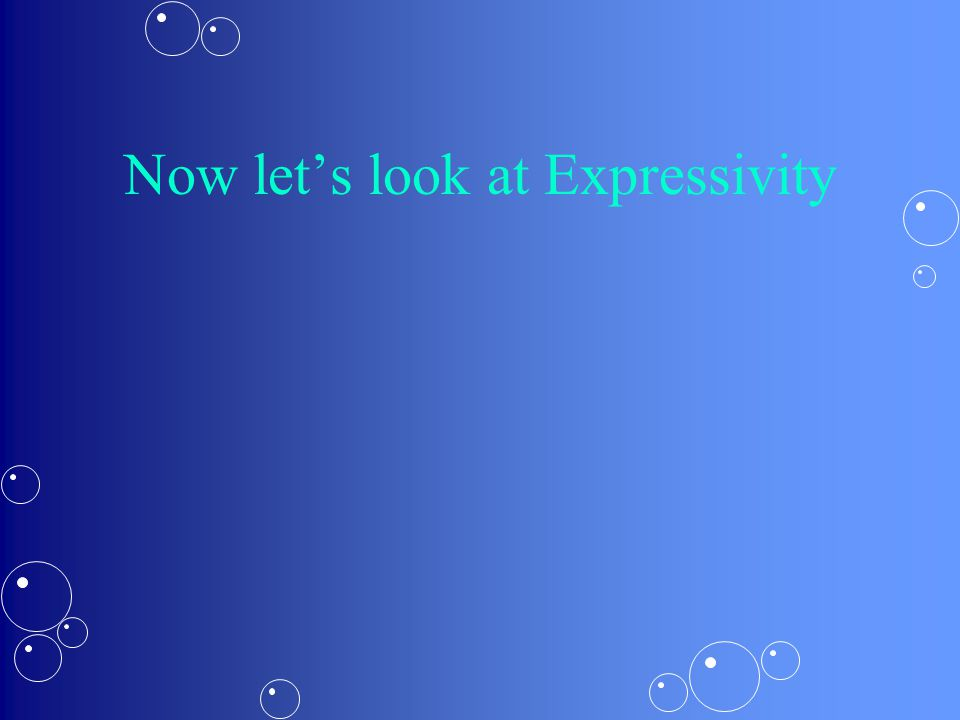 Now let's look at Expressivity