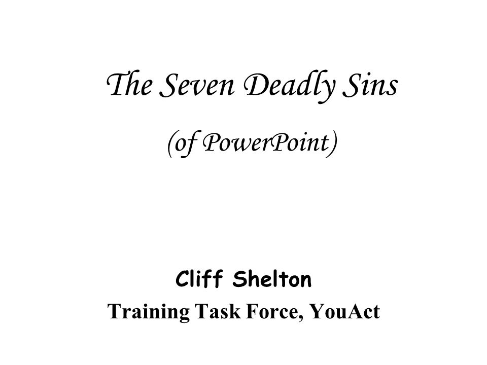 Cliff Shelton Training Task Force, YouAct