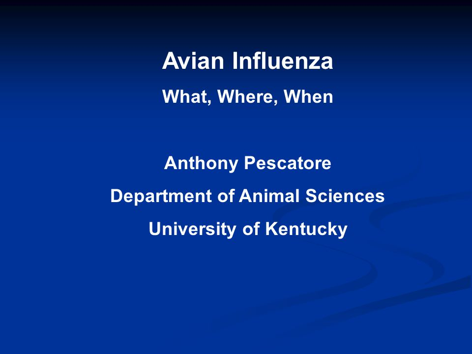 Avian Influenza in the US is NOT the same Virus as Bird Flu in Asia (H5N1)