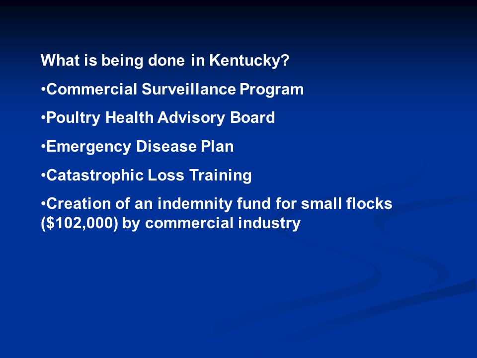 What is being done in Kentucky.