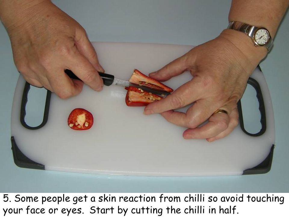 16. Finely chop the tomato.