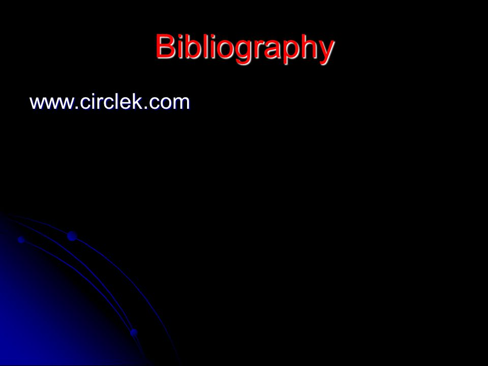 Bibliography www.circlek.com