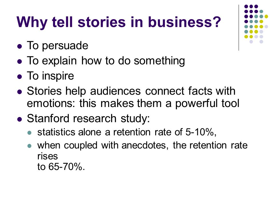Why tell stories in business.