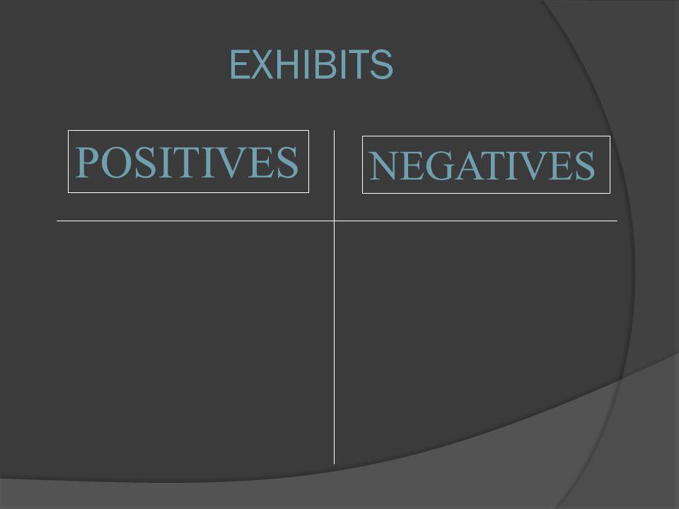 POSITIVES NEGATIVES EXHIBITS
