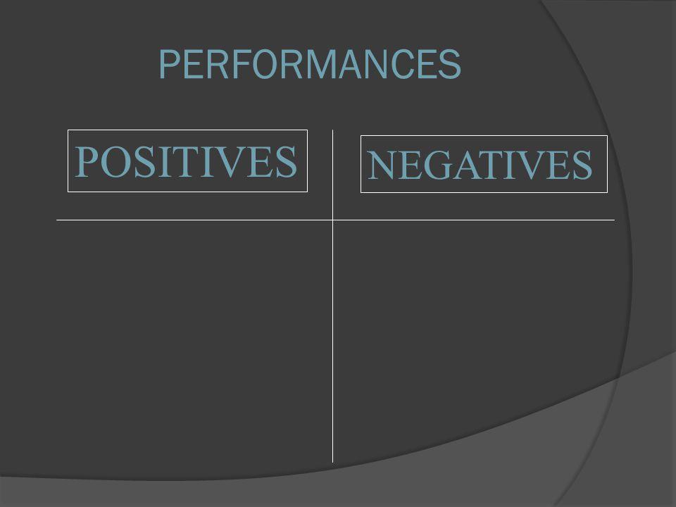 POSITIVES NEGATIVES PERFORMANCES