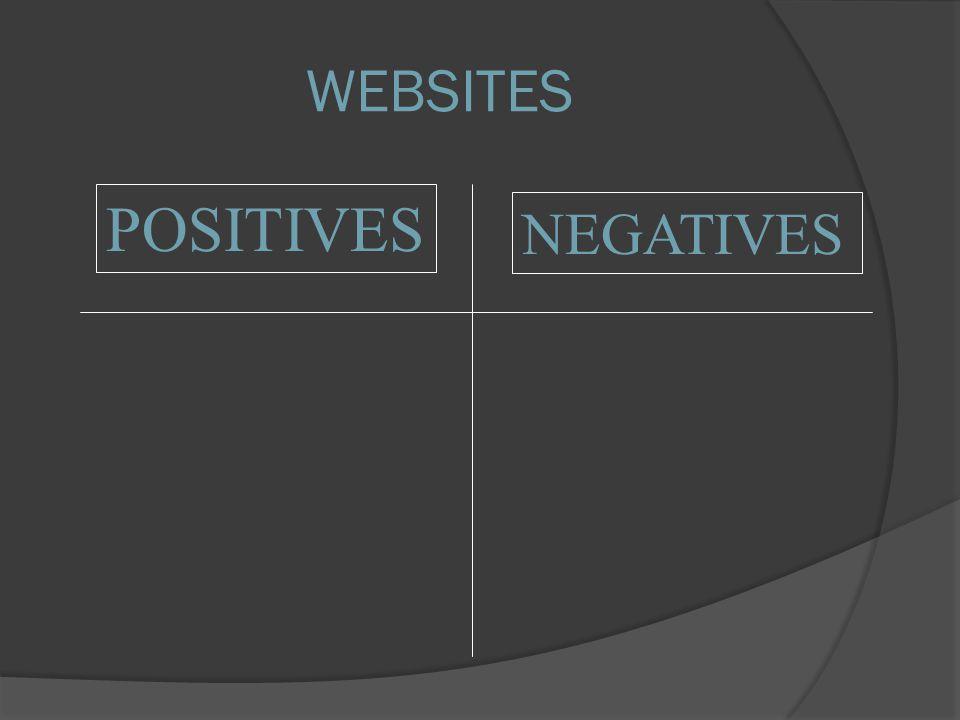 POSITIVES NEGATIVES WEBSITES