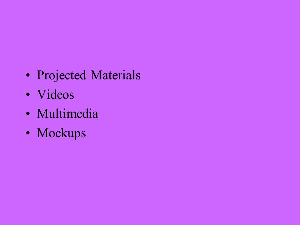 Projected Materials Videos Multimedia Mockups