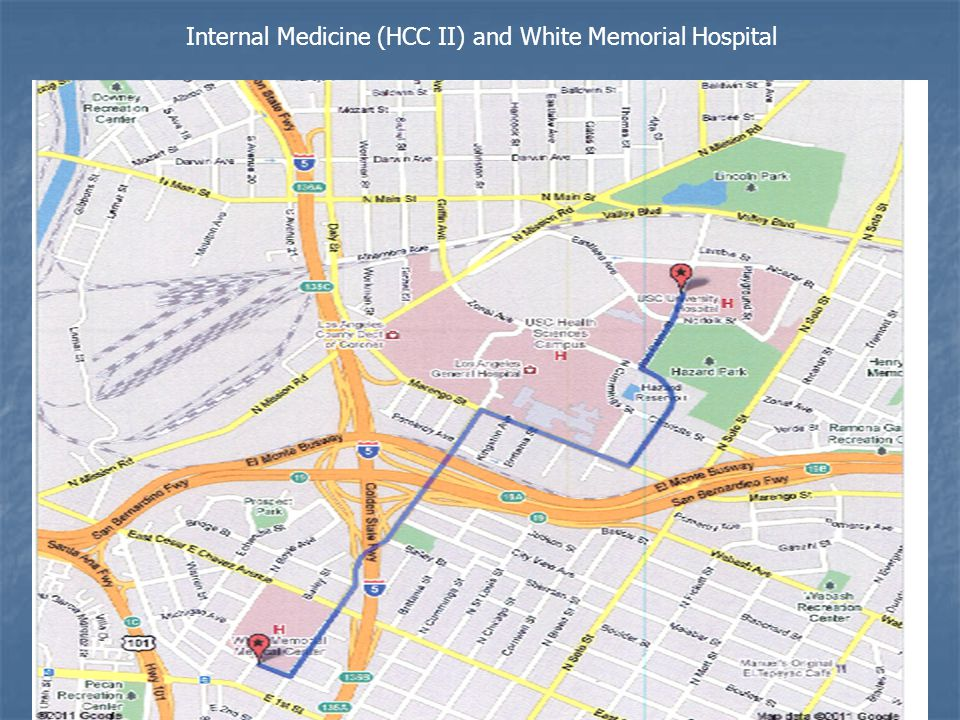 Internal Medicine (HCC II) and White Memorial Hospital