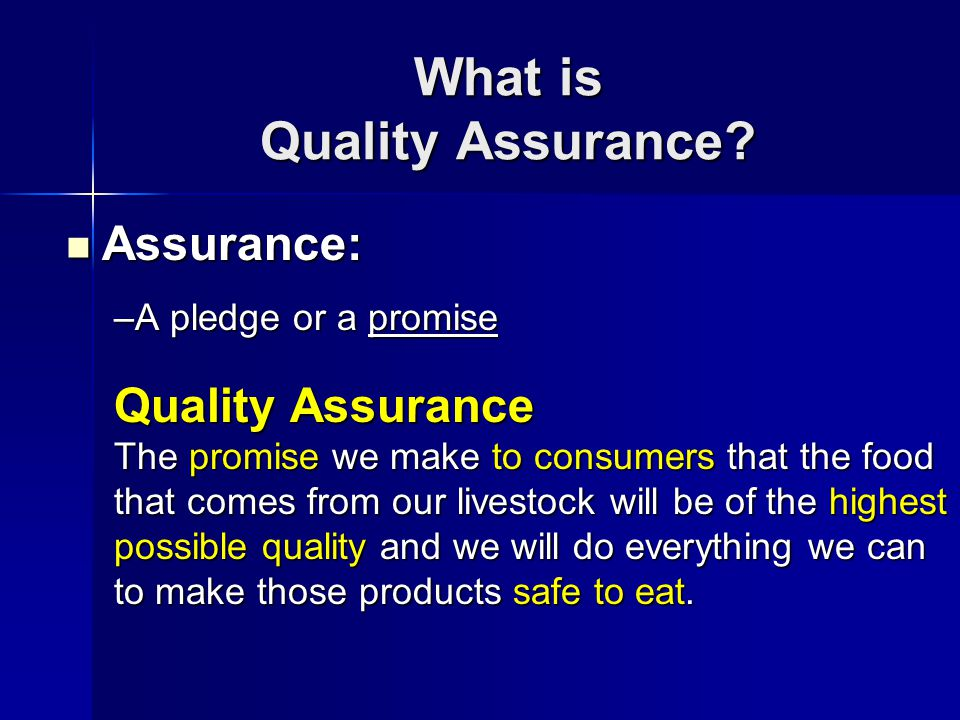 Why Quality Assurance.