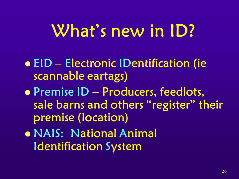 26 What's new in ID.