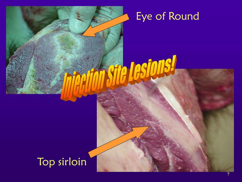 7 Top sirloin Eye of Round