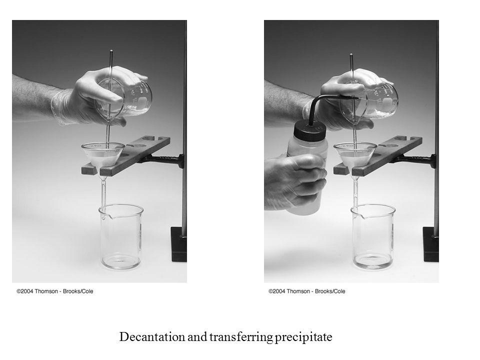 Decantation and transferring precipitate