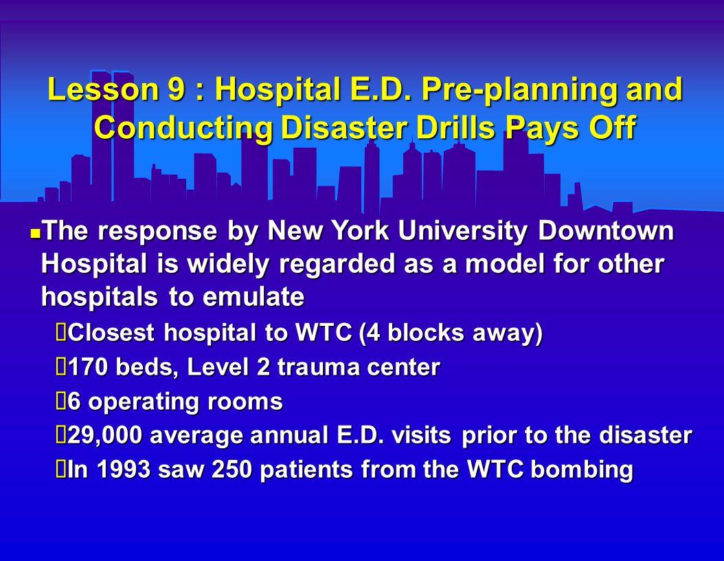 Lesson 9 : Hospital E.D.