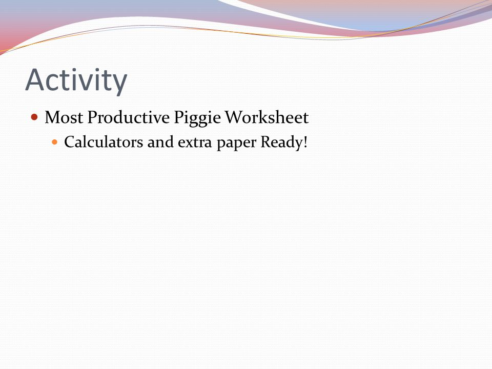 Activity Most Productive Piggie Worksheet Calculators and extra paper Ready!