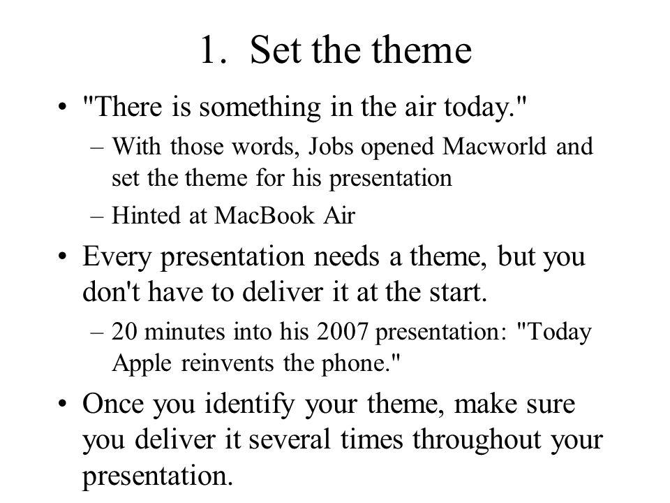 1. Set the theme