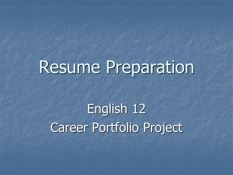 So…What is a resume.