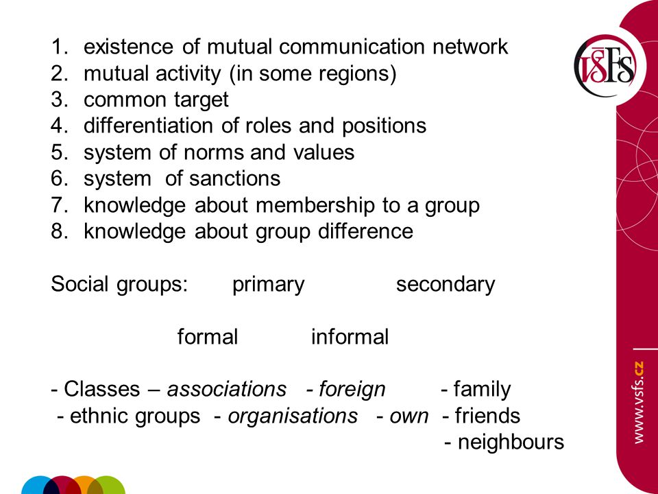 big middle small Schema of structure of social groups shows rather open than strict divide between individual types.