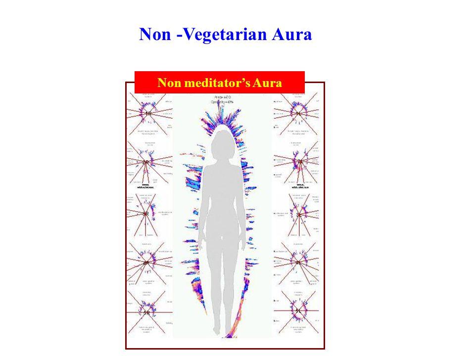 Non meditator's Aura Non -Vegetarian Aura